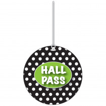 ASH10319 - B W Dots Hall Pass in Hall Passes