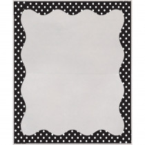 ASH10409 - B/W Dots Border 3 1/2 X 5 Clear View Self Adhesive Library Pockets in Library Cards