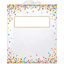 ASH10566 - 6 Pk Storage Bag Confetti Pattern Hanging in Storage