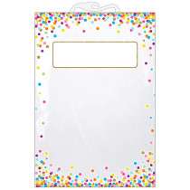 ASH10585 - 5 Pk Storage Bag Confetti Pattern Hanging in Storage