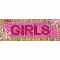ASH10647 - Laminated Hall Pass Burlap Girls in Hall Passes