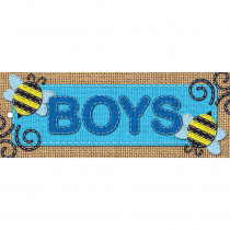 ASH10648 - Laminated Hall Pass Burlap Boys in Hall Passes