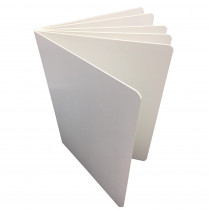 ASH10711 - White Hardcover Blank Book 6X8 in Note Books & Pads