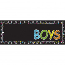 ASH10721 - Laminated Hall Pass Chalk Boys Pass in Hall Passes