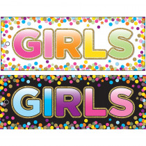 ASH10747 - Girls Pass Confetti Laminate 2 Side in Hall Passes