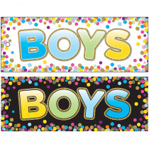 ASH10748 - Boys Pass 9 X 35 Confetti Laminated 2 Sided in Hall Passes