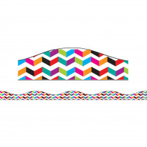 ASH11106 - Big Magnetic Border Multi Color Chevron in Border/trimmer