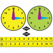 ASH11304 - Math Die Cut Magnets Elapsed Time in Time