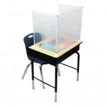 "PrivacyView, 3-Piece Clear Desktop PPE Plastic Divider, 22W x 20""H x 14""D - ASH50305 