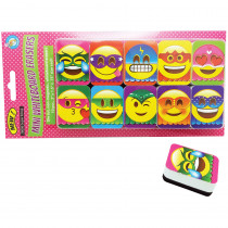 ASH78006 - Super Emoji Mini Whiteboard Erasers Non Magnetic in General