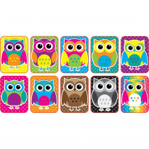 ASH78007 - Color Owls Mini Whiteboard Erasers Non Magnetic in General