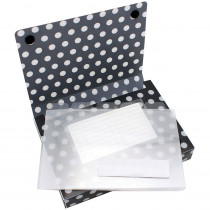 ASH90451 - 5Pk Index Card Holder Black & White Dots in Storage