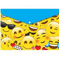 ASH90601 - 6 Pk Folder W/ Snap 95X13 Emojis in Folders
