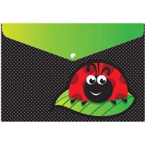 ASH90603 - 6 Pk Folder W/ Snap 95X13 Ladybug in Folders