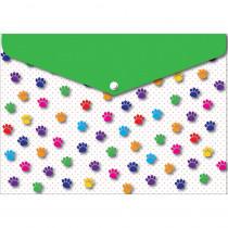 ASH90604 - 6 Pk Folder W/ Snap 95X13 Paws Colorful in Folders