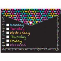 ASH90606 - 6 Pk Folder W/ Snap 95X13 Days Week Chalk Look Organizer in Folders