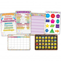 ASH91202 - 6Pk Spanish Classroom Charts Smart Poly in Multilingual