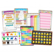 ASH91203 - 7Pk French Immersion Class Charts Smart Poly in Multilingual