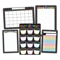 ASH91207 - 5Pk Chalk Dots W/ Loops Class Chrts Smart Poly in Classroom Theme