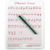 ASH912DCU - Dnealian Cursive Write-On/Wipe-Off Board 9 X 12 in Dry Erase Boards