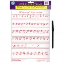 ASH912DMT - Dnealian Manuscript Write-On Wipe-Off Board 9 X 12 in Dry Erase Boards