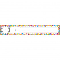 ASH94801 - Confetti Pocket Chart Sched Cards Combo in Sentence Strips
