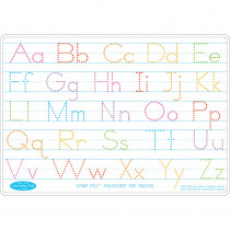 ASH95612 - 10Pk Manuscript Writing Mat 2 Side Write On Wipe Off in Handwriting Skills