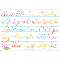 ASH95613 - 10Pk Cursive Writing Mat 2 Sided Write On Wipe Off in Handwriting Skills