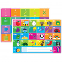 ASH95620 - 10Pk Abc & Numbers 1-20 Learn Mat 2 Sided Write On Wipe Off in Numeration