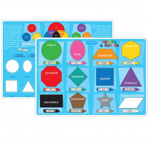 ASH95622 - 10Pk Colors And Shapes Learning Mat 2 Sided Write On Wipe Off in Resources