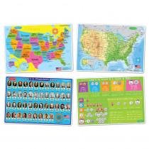 ASH95800 - 4 Pk Us Education Learning Mats Smart Poly in Mats