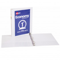 AVE5711 - 1In Capacity White View Binder in Folders