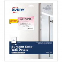 AVE61516 - Surface Safe Wall Decals 7In X 10In 3 Labels in Post It & Self-stick Notes