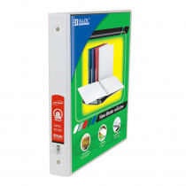 BAZ3137 - 3 Ring Binder W/ 2 Pockets 1In Wht in Folders