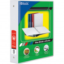 BAZ3148 - 3Ring Binder W/ 2 Pockets 1.5In Wht in Folders