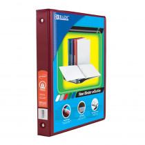 BAZ4120 - 3Ring Binder W/ Pockets 1In Burgndy in Folders