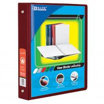 BAZ4140 - 3Ring Binder W/ Pockts 1.5In Brgndy in Folders