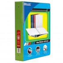 BAZ4144 - 3Ring Binder W/ Pockts 1.5In Lime Green in Folders