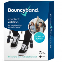 Bouncybands for Middle/High School Chairs, Black - BBACMBK | Bouncy Bands | Desk Accessories