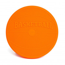 Wiggle Seat Sensory Cushion, Orange Basketball - BBAWSSBAOR | Bouncy Bands | Floor Cushions