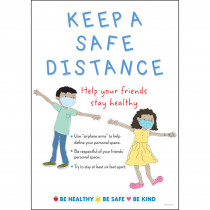 Keep a Safe Distance Poster - BCP1869 | Barker Creek | Classroom Theme