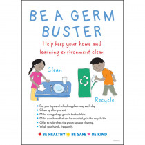 Be a Germ Buster Poster - BCP1873 | Barker Creek | Classroom Theme