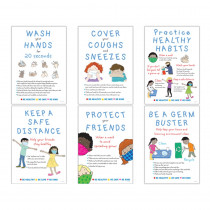Be Healthy, Be Safe, Be Kind, 6-Poster Set - BCP1882 | Barker Creek | Classroom Theme