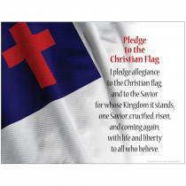 BCPLL1034SCH - Pledge To The Christian Flag Chart in Inspirational