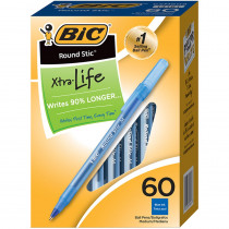 BICGSM609BE - Bic Round Stic Pen Blue in Pens