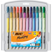 BICGXPMP361 - Bic Mark It Permanent Markers 36Pk Fine Point Asstd Color in Markers