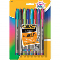 BICMSBAPP241AST - Bic Cristal Xtra Bold Pk Of 24 in Pens