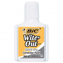 BICWOFQD12WHI - Bic Witeout Quick Dry Correct Fluid in Liquid Paper