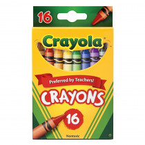 BIN3016 - Crayola Crayons 16 Color Peggable in Crayons