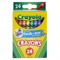 BIN3024 - Crayola Crayons 24 Color Peggable in Crayons